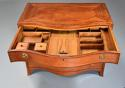 Superb quality serpentine shape satinwood gentleman's dressing chest - picture 7