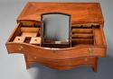 Superb quality serpentine shape satinwood gentleman's dressing chest - picture 8