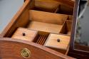 Superb quality serpentine shape satinwood gentleman's dressing chest - picture 9