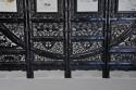 Highly decorative large Chinese carved hardwood four panel screen - picture 10