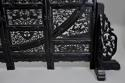 Highly decorative large Chinese carved hardwood four panel screen - picture 11