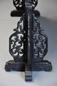 Highly decorative large Chinese carved hardwood four panel screen - picture 13