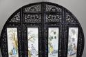 Highly decorative large Chinese carved hardwood four panel screen - picture 3