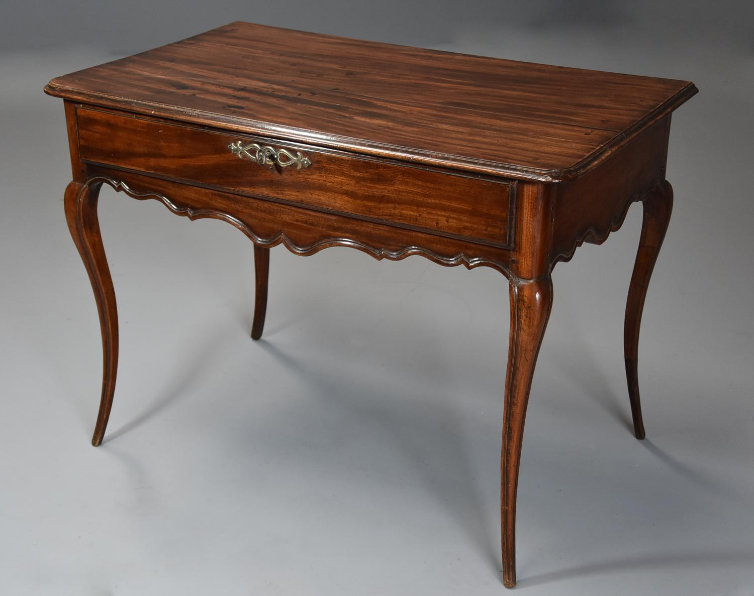 Late 18th century French walnut side table with superb rich patina