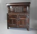 Wonderful mid 17thc carved oak press cupboard with superb patina - picture 1