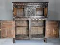 Wonderful mid 17thc carved oak press cupboard with superb patina - picture 11
