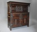 Wonderful mid 17thc carved oak press cupboard with superb patina - picture 2