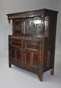 Wonderful mid 17thc carved oak press cupboard with superb patina - picture 3