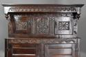 Wonderful mid 17thc carved oak press cupboard with superb patina - picture 4