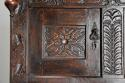 Wonderful mid 17thc carved oak press cupboard with superb patina - picture 8