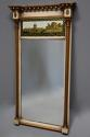 Early 19th century Regency eglomise, gilt and painted pier mirror - picture 1