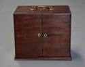 Mid 19th century mahogany travelling apothecary cabinet - picture 2
