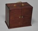 Mid 19th century mahogany travelling apothecary cabinet - picture 6