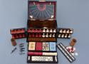 19thc coromandel fitted games compendium by 'Leuchars & Son, London' - picture 7