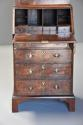 Queen Anne style walnut bureau bookcase of small proportions - picture 10