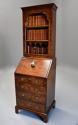 Queen Anne style walnut bureau bookcase of small proportions - picture 2