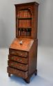 Queen Anne style walnut bureau bookcase of small proportions - picture 3