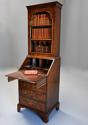 Queen Anne style walnut bureau bookcase of small proportions - picture 4