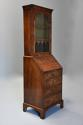 Queen Anne style walnut bureau bookcase of small proportions - picture 5
