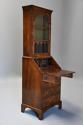 Queen Anne style walnut bureau bookcase of small proportions - picture 6