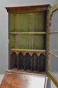 Queen Anne style walnut bureau bookcase of small proportions - picture 8