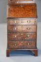 Queen Anne style walnut bureau bookcase of small proportions - picture 9