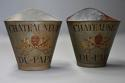 Highly decorative pair of grape carriers with painted decoration - picture 1