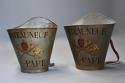 Highly decorative pair of grape carriers with painted decoration - picture 4