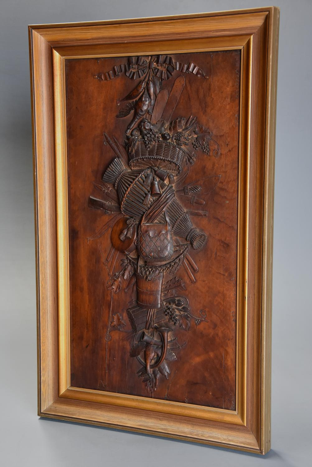 Exhibition quality 19th century Continental fruitwood trophy carving
