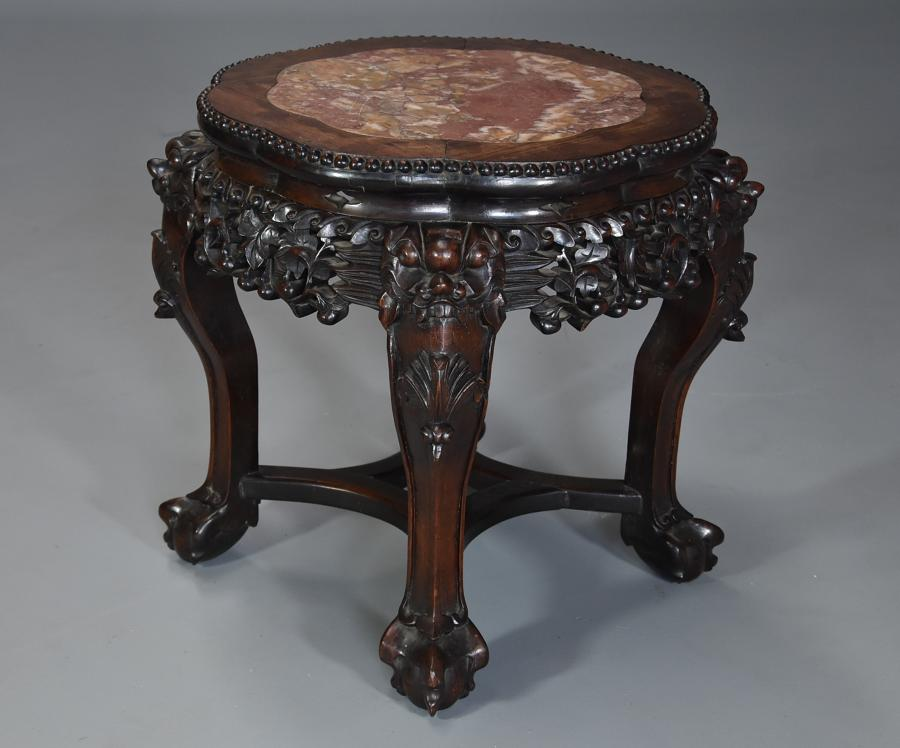 Late 19th century Chinese low table or pot stand