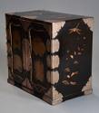 Early 20th century Japanese two door lacquered table cabinet - picture 9