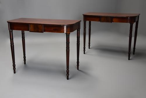 Pair of early 19th century mahogany console tables
