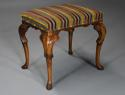 Early 20th century walnut cabriole leg stool in the Queen Anne style - picture 1