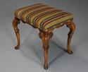 Early 20th century walnut cabriole leg stool in the Queen Anne style - picture 2