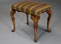 Early 20th century walnut cabriole leg stool in the Queen Anne style - picture 3