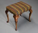 Early 20th century walnut cabriole leg stool in the Queen Anne style - picture 4