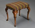 Early 20th century walnut cabriole leg stool in the Queen Anne style - picture 5