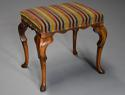 Early 20th century walnut cabriole leg stool in the Queen Anne style - picture 6