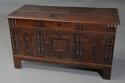Rare mid-late 17th century oak moulded front coffer with fine patina - picture 1