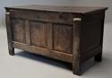 Rare mid-late 17th century oak moulded front coffer with fine patina - picture 12