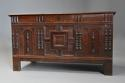 Rare mid-late 17th century oak moulded front coffer with fine patina - picture 3