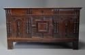 Rare mid-late 17th century oak moulded front coffer with fine patina - picture 4