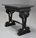Late 19thc ebonised walnut centre table in the Renaissance style - picture 1