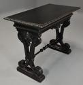 Late 19thc ebonised walnut centre table in the Renaissance style - picture 4