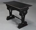 Late 19thc ebonised walnut centre table in the Renaissance style - picture 5