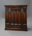 Late 19th century Gothic style oak cupboard - picture 2