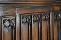 Late 19th century Gothic style oak cupboard - picture 7