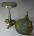 Pair of highly decorative Regency style lacquered occasional tables - picture 2
