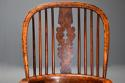 Superb set of eight 19thc broad arm burr yew high back Windsor chairs - picture 7