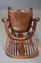 Superb set of eight 19thc broad arm burr yew high back Windsor chairs - picture 9